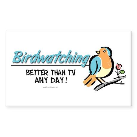 Birdwatching Sticker (Rectangle)