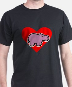 Hippo Heart T-Shirt