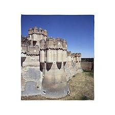 Coca Castle, 15th cent. SPAIN. Throw Blanket
