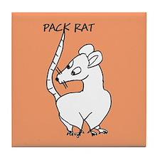 Pack Rat Tile Coaster