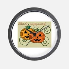 Fall Is For Pumpkin Carving! Wall Clock