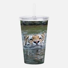 Funny Cat face Acrylic Double-wall Tumbler