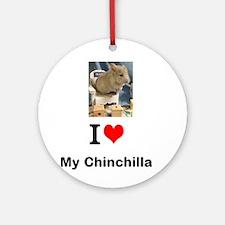 Chinchilla in a Chair Ornament (Round)