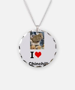 Chinchilla in a Chair Necklace