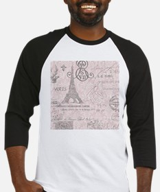 vintage paris eiffel tower damask Baseball Jersey
