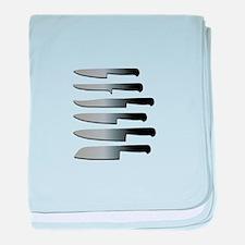 Kitchen Knives baby blanket