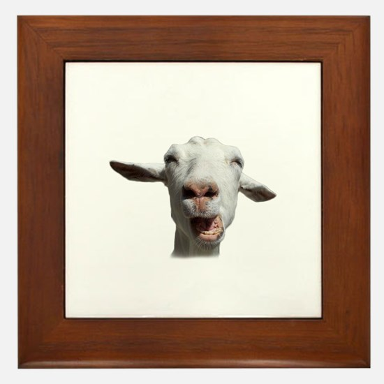 Cute Goat Framed Tile