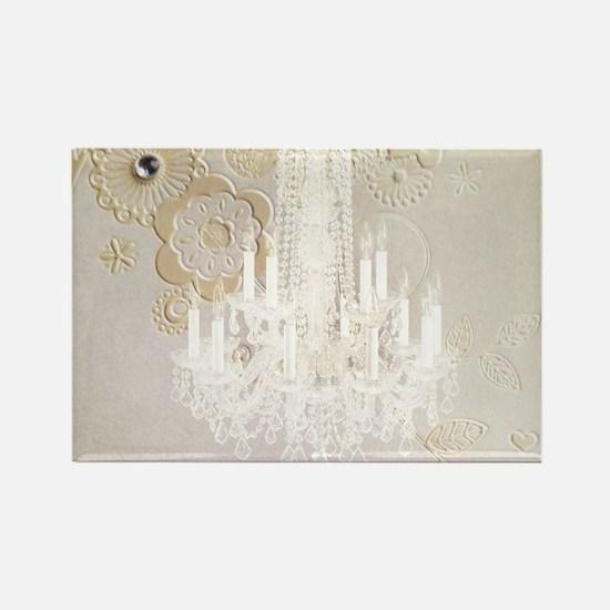 elegant chandelier floral paris Magnets