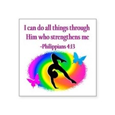 "GYMNAST PHILIPPIANS Square Sticker 3"" x 3"""