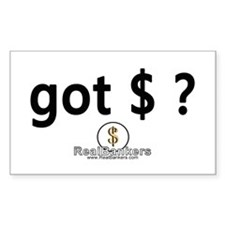 Got Money? Logo Rectangle Decal