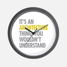 Its An Architecture Thing Wall Clock