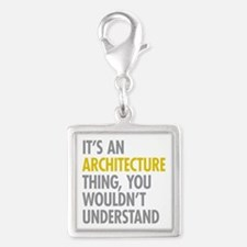 Its An Architecture Thing Silver Square Charm