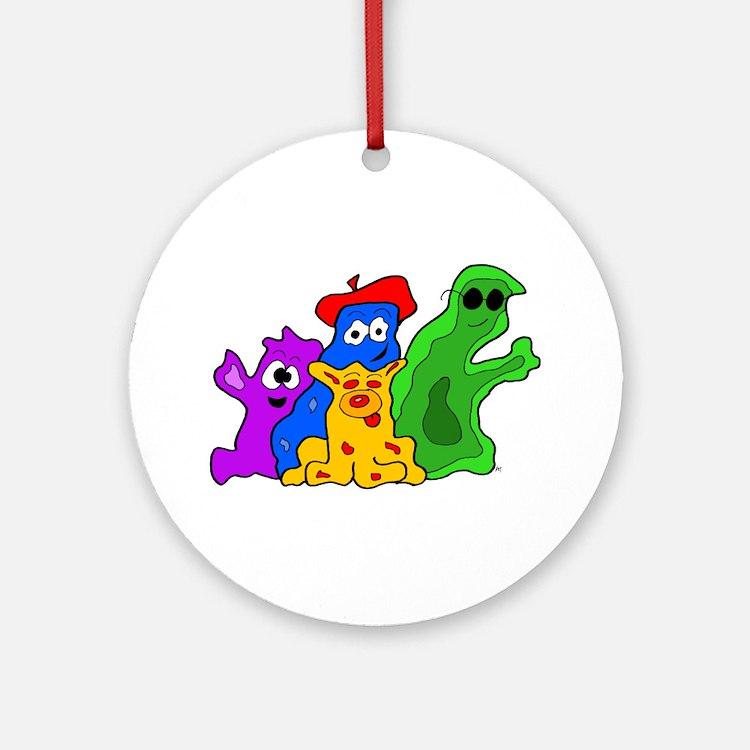 Germ Family Photo Ornament (Round)