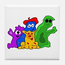 Germ Family Photo Tile Coaster