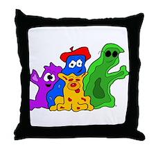 Germ Family Photo Throw Pillow
