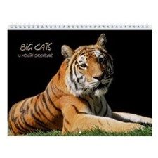 Big Cats Wildlife Wall Calendar