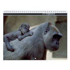 Primates Wildlife Wall Calendar