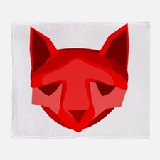 Red Fox Throw Blanket