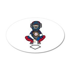 Baseball Catcher Wall Decal