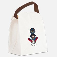Baseball Catcher Canvas Lunch Bag