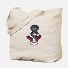 Baseball Catcher Tote Bag