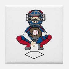 Baseball Catcher Tile Coaster