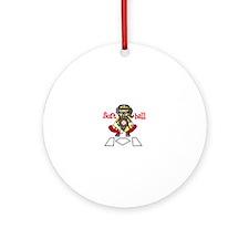 Catch Softball Ornament (Round)