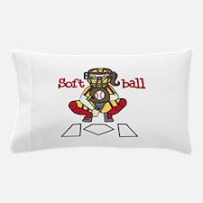 Catch Softball Pillow Case