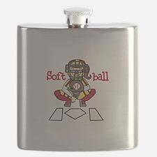 Catch Softball Flask