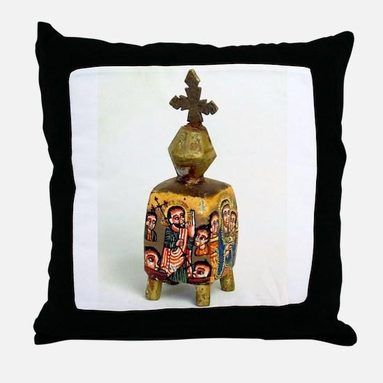 Ethiopian Orthodox Figure Throw Pillow