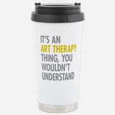 Its An Art Therapy Thin Stainless Steel Travel Mug