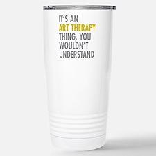 Its An Art Therapy Thin Travel Mug