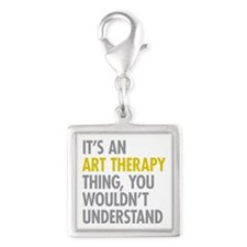 Its An Art Therapy Thing Silver Square Charm