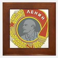 V Lenin Framed Tile