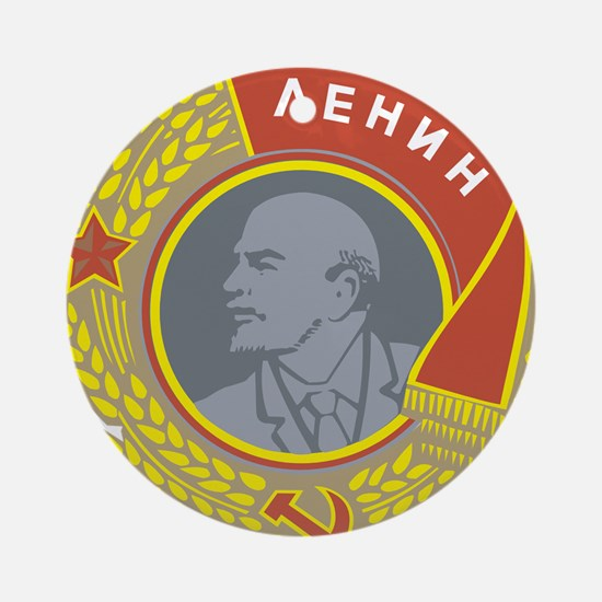 V Lenin Ornament (Round)