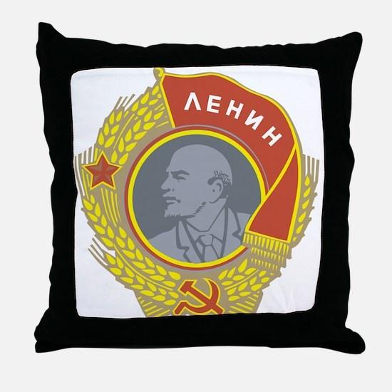 V Lenin Throw Pillow