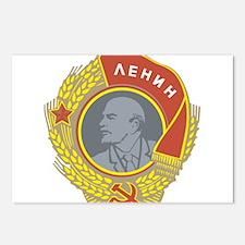 V Lenin Postcards (Package of 8)