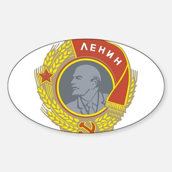 V Lenin Oval Decal