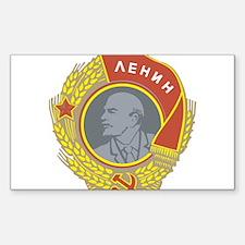 V Lenin Rectangle Decal