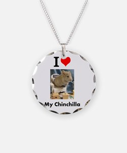 Baby Chinchilla in a Chair Necklace