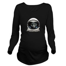 Space Helmet Astronaut Cat Long Sleeve Maternity T