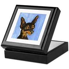 MINIATURE PINSCHER portrait Keepsake Box