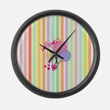 Cute Candy Large Wall Clock