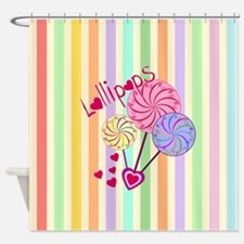 Cute Pastel stripe Shower Curtain