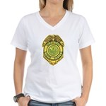 Vermont State Police Women's V-Neck T-Shirt