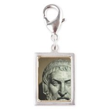 Sophocles. Greek playwright. Silver Portrait Charm