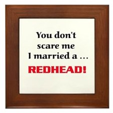 Cute Redhead Framed Tile