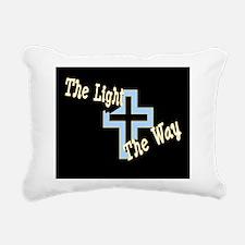 The Light The Way (black Rectangular Canvas Pillow