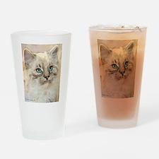 Ragamuffin Cat Drinking Glass