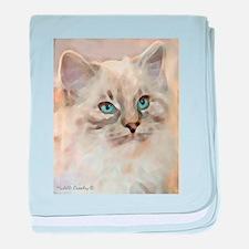 Ragamuffin Cat baby blanket